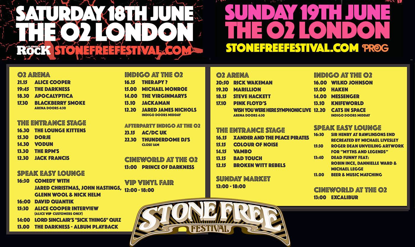 Stone Free 2016 Stone Free Festival 16th 17th June 2018 Rock
